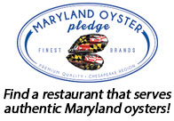 Find restaurants that serve oysters harvested from Maryland waters