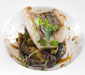 Seared Rockfish with Crispy Brussels Sprouts
